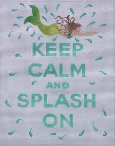 """Keep Calm & Sail On by Kate Dickerson Size: 8.5"""" x 10.5"""" Mesh Count: 13"""