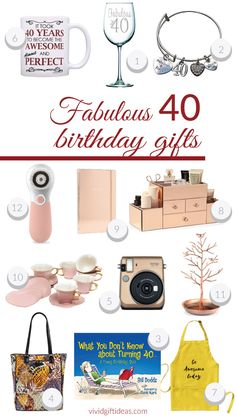 aa308bfc3b0 Birthday Gift for Her 40th Birthday Gifts for Women