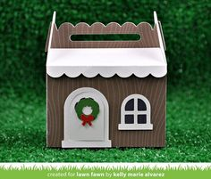 Scalloped Treat Box Winter House Add-On - Lawn Fawn - PRE ORDER