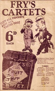 Fry's chocolate once the largest manufacture of cocoa's