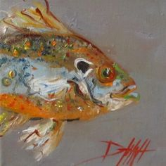 Sun Fish, painting by artist Delilah Smith