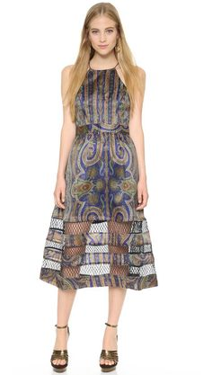 The silk, the netting the pattern! Love everything about this Zimmermann dress.