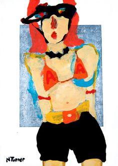 "Saatchi Online Artist: Neal Turner; Acrylic, 2013, Painting ""I wrestled Andy Kaufman"""