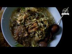 Yogyakarta Street Food, Chicken Soup, Soto Ayam Pak Pono Indonesia - YouTube