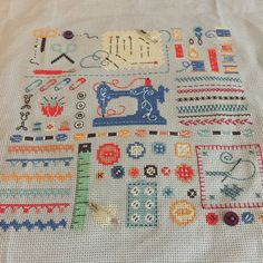 Cross stitch crafty sampler from CrossStitcher magazine January 2015, issue 287.