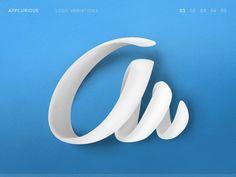 "Alphabet ""a"" logo variations by @unity_hr"
