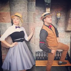Briar Rose Sleeping Beauty and Prince Philip Dapper Disneybound @dolewhipdame on Instagram