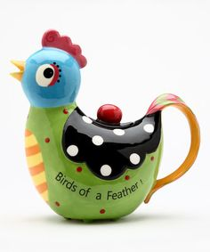 Another great find on #zulily! 'Birds of a Feather' Hen Teapot #zulilyfinds