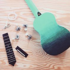 ombre ombrepainting ombre decoration mint ombre painting diy ukelele