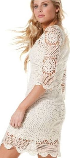 lovely crocheted dress ♥✤ | Keep the Glamour | BeStayBeautiful
