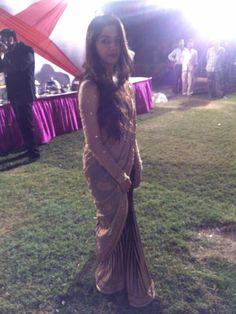 Golden black saree