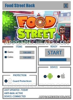 Food Street Tips, Cheats, & Hack for Gems & Coins  #Arcade #FoodStreet #Strategy http://appgamecheats.com/food-street-tips-cheats-hack/