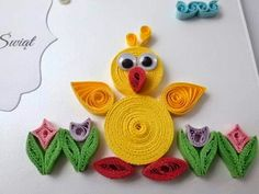Billedresultat for quilling påske Quilling Images, Paper Quilling Flowers, Quilling Animals, Paper Quilling Patterns, Origami And Quilling, Quilled Paper Art, Quilling Paper Craft, Quilling Ideas, Paper Quilling For Beginners