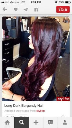Cherry cola hair color.... I want my hair this color !!!! Love love love!!!