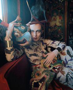 Karen Elson, photo by Tim Walker for Vogue UK