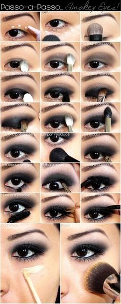 Black Smoky Eye Makeup Tutorial #eye #smoky #makeup