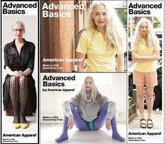 What do you think about American Apparel casting a gray-haired model? #fashion #aging #seniors