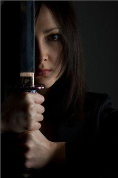 Woman with a katana