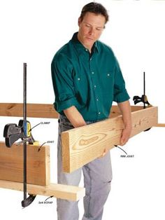 DIY Tip of the Day: Bar clamps make working alone easier. Bar clamps are ideal for working alone because they tighten with one hand. Tighten a clamp across two joists to support pipes, ducting, or framing members while you work on them. Bar clamps also come in handy for all sorts of framing tasks. For example, you can clamp a board to the bottom of deck joists to support the front joist while you nail it on.