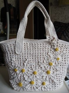 crochet bag by TomTomHam  - no pattern but could figure it out