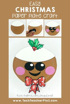 Easy Christmas paper plate crafts you can do with your students today. These make great xmas decorations and are easy fo Diy Arts And Crafts, Diy Craft Projects, Craft Ideas, Christmas Paper Plates, Christmas Themes, Winter Activities, Educational Crafts, Holiday Crafts For Kids