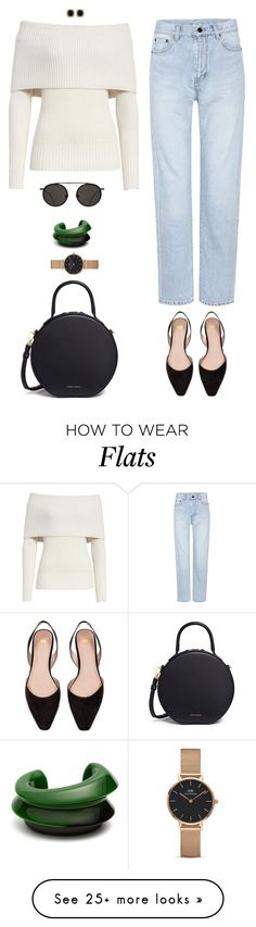 """""""The way you speak to yourself matters"""" by xoxomuty on Polyvore featuring Rebecca Taylor, Yves Saint Laurent, H&M, Mansur Gavriel, Jona, Daniel Wellington, Vanda Jacintho, ootd and polyvoreOOTD"""