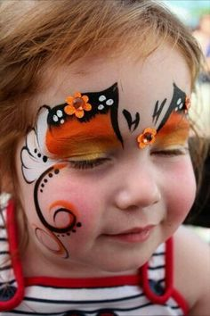 When you think about face painting designs, you probably think about simple kids face painting designs. Many people do not realize that face painting designs go Girl Face Painting, Face Painting Designs, Painting For Kids, Paint Designs, Face Paintings, Butterfly Face Paint, Butterfly Art, Butterfly Design, Ladybug Face Paint