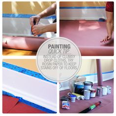 Painting Tip: Use Rosin Paper Instead of a Drop Cloth