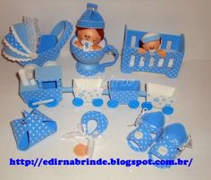 07 moldes de lembrancinhas para chá de bebê em EVA! Os moldes é um kit completo delembrancinhas de bebêem eva.Faça você mesmo para presentear as amigas