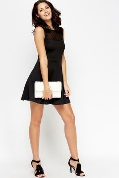 Cheap Dresses for 5 £ Affordable Dresses, Cheap Dresses, Latest Dress, Girls Night Out, Black Mesh, Skater Dress, Dress Outfits, Fashion Online, Fancy