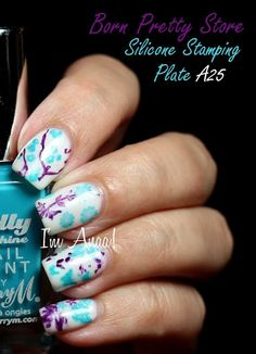 I'm A Nail Art Addict!: Review: Born Pretty - Silicone Stamping Plate [A25]