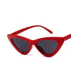 Vintage Narrow Cat Eye Sunglasses for Women 62ec3ce37048b