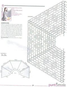 Crocheted cape chart