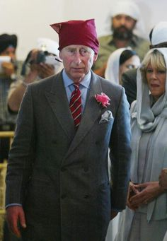 2006 ANADPUR SAHEB, INDIA: Britain's Prince Charles and his wife Camilla, Duchess of Cornwall, arrive at the Anadpur Saheb Gurudwara in the town of Anadpur Saheb.