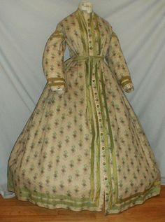 All The Pretty Dresses: American Civil War Era Wrapper Dress