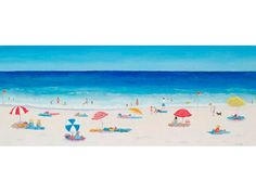 Large Beach Painting  by JanMatsonArt on Etsy,