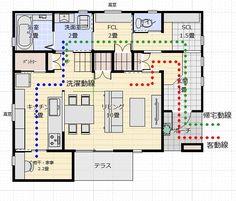 間取り成功例29坪 コンパクトで使い勝手の良い家 | アトリエコジマ~注文住宅理想の間取り作りと失敗しないアイデア・実例集~ Sims 4 Build, Japanese House, House Layouts, My Dream Home, My House, House Plans, Floor Plans, Indoor, House Design