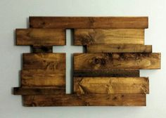 Beautiful Pallet Wood Cut Out Cross Wall Hanging for home decor. Size is 12.5 X 18