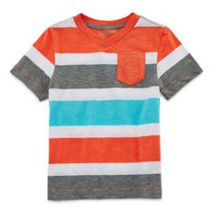 Arizona Short-Sleeve Striped Tee – Boys 2t-5t  found at @JCPenney