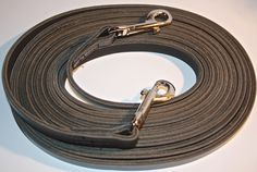 Long Reins - Continuous - Black Leather with Brass or Stainless Snaps - Classical Equitation Dressage, Black Leather, Brass, Horses, Tack, Netherlands, The Nederlands, The Netherlands, Holland