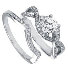 Contemporary Diamond Bridal Set