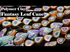 Making A Fantasy Leaf Cane with Polymer Clay , jewelry tutorial Polymer Clay Bracelet, Polymer Clay Canes, Polymer Clay Flowers, Fimo Clay, Polymer Clay Projects, Clay Crafts, Resin Tutorial, Clay Design, Clay Tutorials