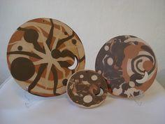 Jogo de Mandalas, em cerâmica: Lunar. Loja virtual: www.artbydarlene.elo7.com.br