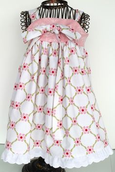 Spring Flower Knot Dress  size 1224 months  Ready by girlinspired, $35.00