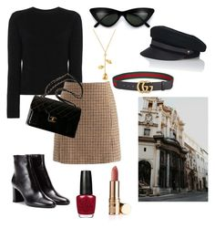 """""""je t'aime"""" by miuroses ❤ liked on Polyvore featuring Alexandra Golovanoff, Chicwish, Lola, Gucci, Chanel and Yves Saint Laurent"""