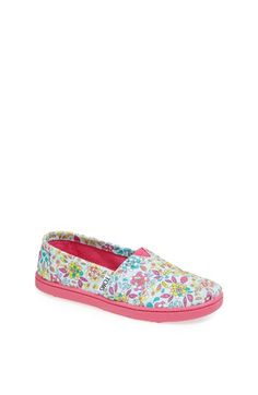 TOMS 'Classic Youth - Inked Floral' Slip-On (Toddler, Little Kid & Big Kid) available at #Nordstrom