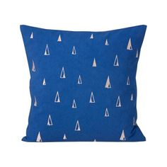 Alex and Alexa | ferm LIVING Blue Small Cone Cushion