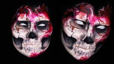 Evil Skull Heart Makeup Tutorial