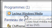 Extraire automatiquement en MP3 les CD audio lus - Lecteur Windows Media 12