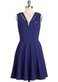 Dresses - Have a Niche Evening Dress in Indigo